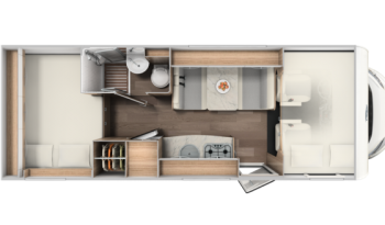 Carado A 464 lakóautó – keresztfekvésű ággyal full